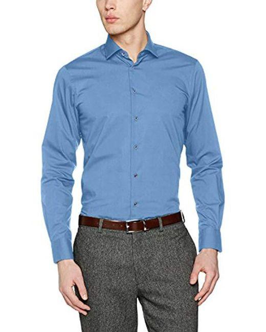 a7c74209f29d04 Tommy Hilfiger - Blue Tailored Formal Shirt for Men - Lyst ...