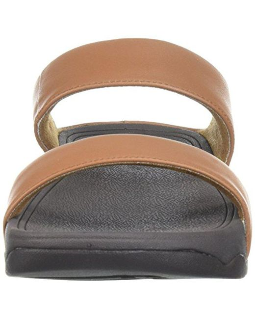 51f72ca07e5f ... Fitflop - Multicolor Lulu Leather Slide Sandal Tan 5 M Us - Lyst ...