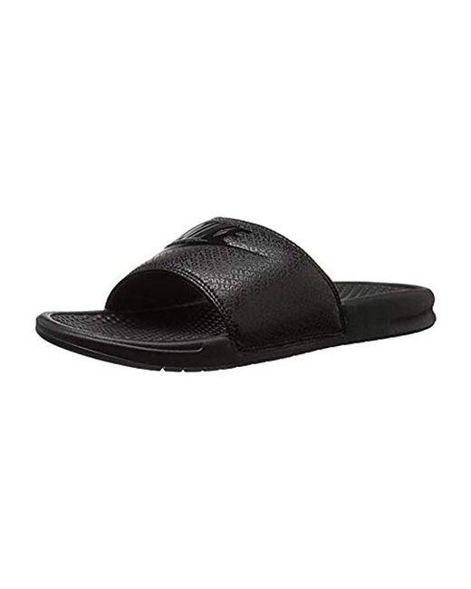 4e56bd54a Lyst - Nike Benassi Just Do It Athletic Sandal in Black for Men ...