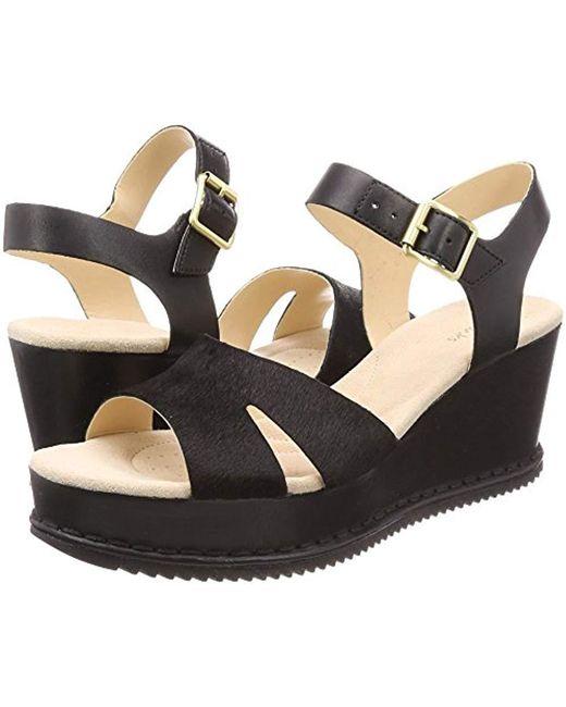 21489534edb Clarks  s Akilah Eden Ankle Strap Sandals in Black - Save 34% - Lyst