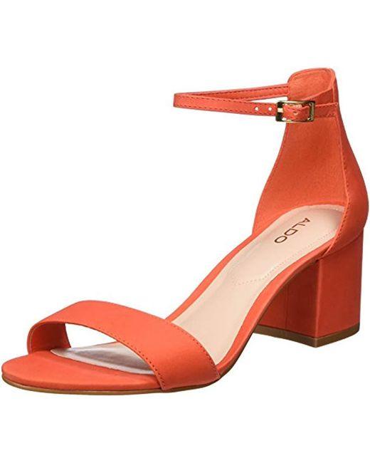 ALDO  s Villarosa Open Toe Sandals in Orange - Lyst