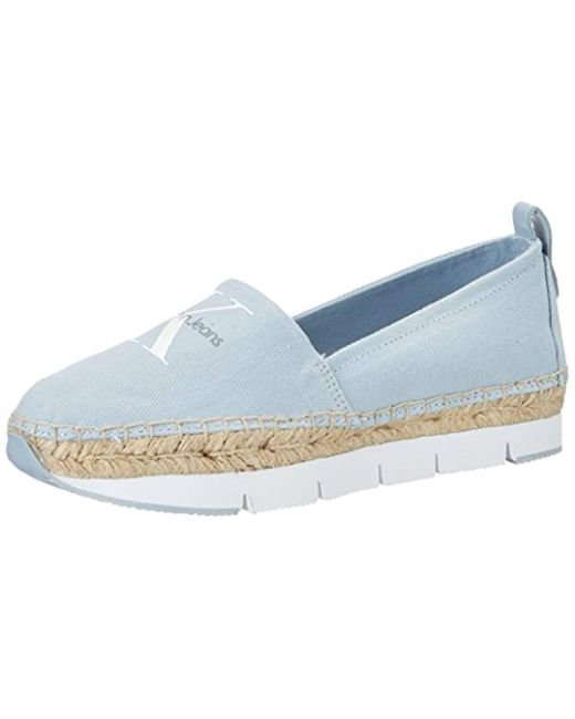 9b3b7d7bf8d9 Calvin Klein  s Genna Canvas Low-top Sneakers in Blue - Save 52% - Lyst