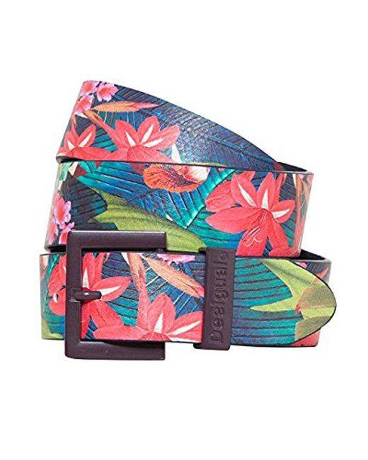 Desigual - Multicolor Tropical Buckle Belt - Lyst