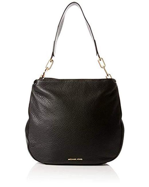 3492fd217 Michael Kors Fulton Black Pebbled Leather Hobo Bag in Black - Save ...