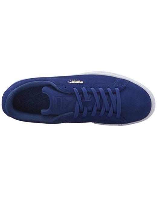 bb5b4b1eacba ... PUMA - Blue Suede Classic Debossed Q3 Fashion Sneaker for Men - Lyst