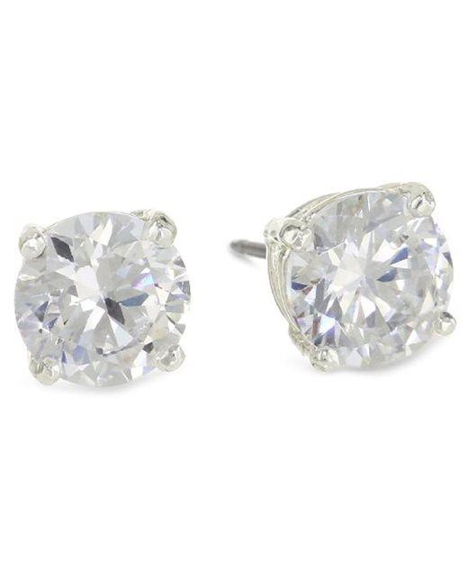 """Kenneth Cole - Metallic """"shiny Earrings"""" Small Crystal Stud Earrings - Lyst"""