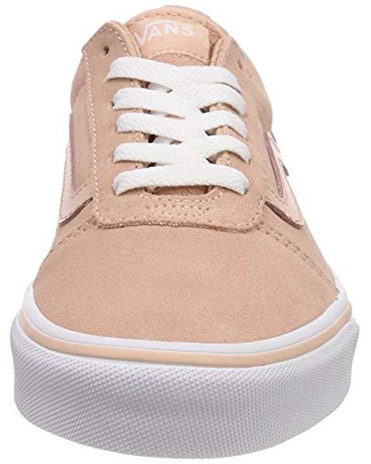 ... Lyst Vans - Pink  s Ward Suede Low-top Sneakers ... 456ef3316