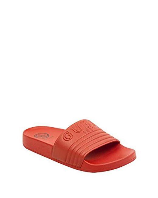aae580648996d2 Guess - Red Susie Slide Sandal - Lyst ...