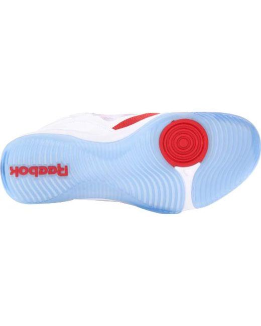 e48c4779bd58 ... Reebok - White Q96 Crossexamine Basketball Shoe for Men - Lyst ...
