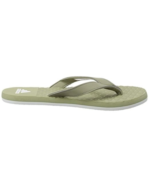 d74a35f958f5 Adidas  s Eezay Soft Flip Flops in Green for Men - Lyst