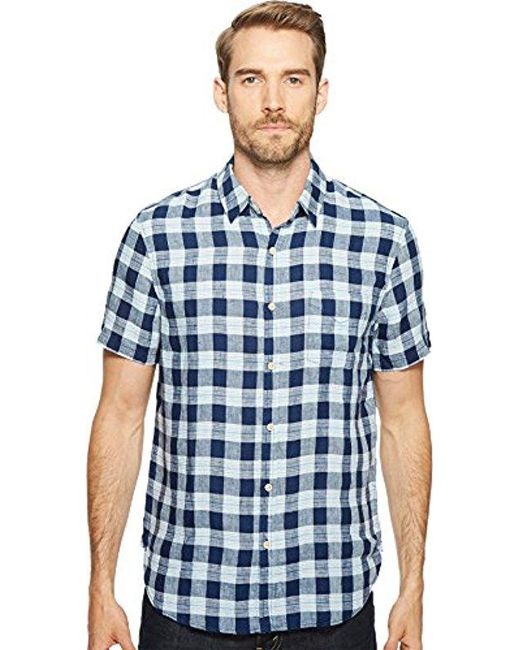 Lucky Brand - Blue Woven Ballona Shirt for Men - Lyst