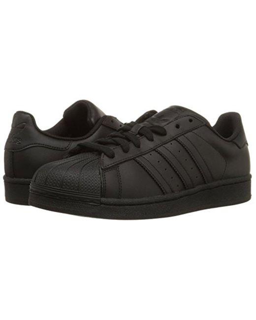 lyst adidas superstar della scarpa in nero originali per gli uomini