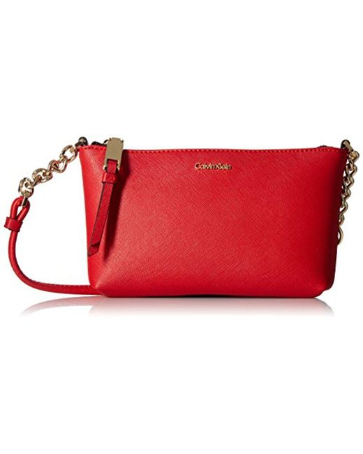 CALVIN KLEIN 205W39NYC - Red Hayden Saffiano Key Item Crossbody - Lyst