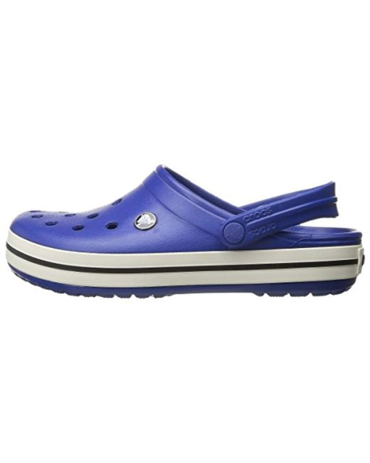 24052a713 ... Crocs™ - Blue Unisex Adult Crocband Clogs for Men - Lyst ...