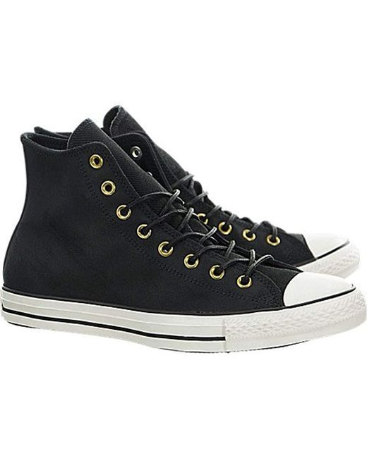 73c6a047ff79 ... Converse - Unisex Chuck Taylor As Hi Black Mono Basketball Shoes for Men  - Lyst ...