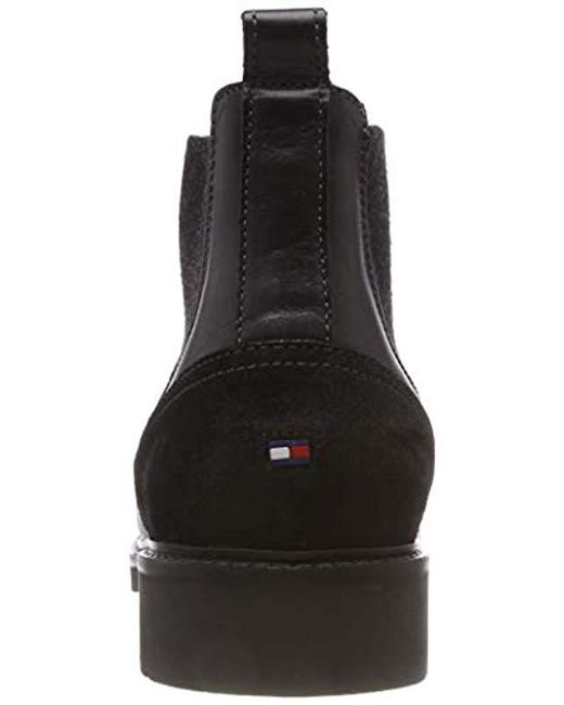 59c81c9adad46 Tommy Hilfiger  s Active Leather Chelsea Boot in Black for Men - Lyst