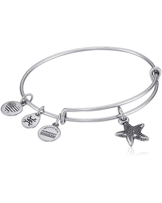 ALEX AND ANI - Metallic Starfish Ii Bangle Bracelet - Lyst