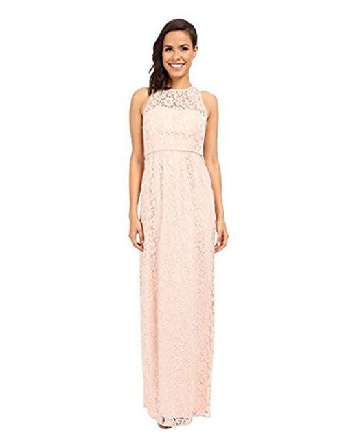 Donna Morgan - Pink Harper Long Lace Illusion Gown - Lyst