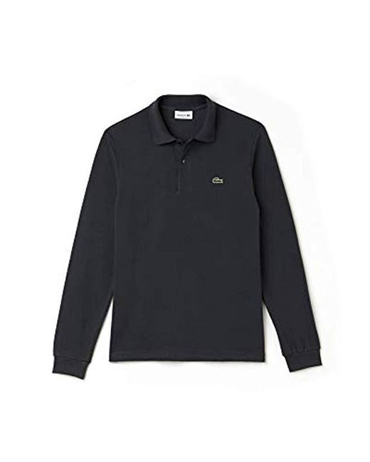 340ebcaece Lacoste Long-sleeve Polo Shirt in Gray for Men - Save ...
