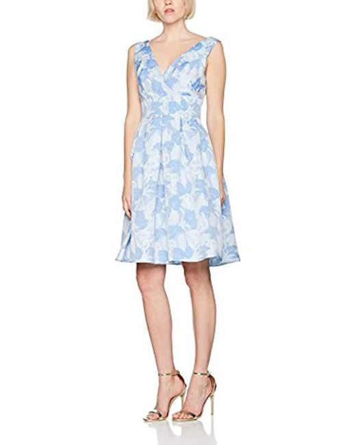 9f1dce5c1c61 Dorothy Perkins - Blue Luxe: Leaf Jacquard Party Dress - Lyst ...