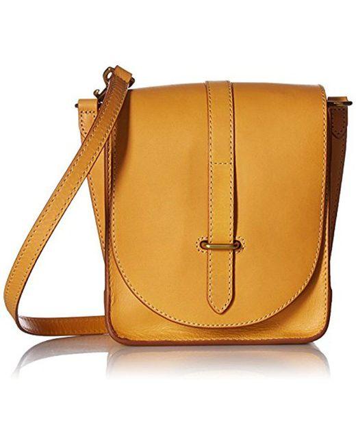 Frye - Yellow Ilana Crossbody Leather Messenger Bag - Lyst