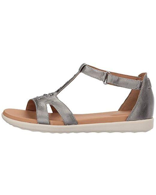 Ladies Clarks Un Reisel Mara Casual Leather T-Bar Sandals