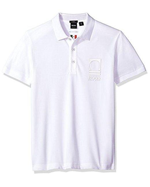 BOSS - White Boss Orange World Cup Soccer Country Polo Shirt for Men - Lyst