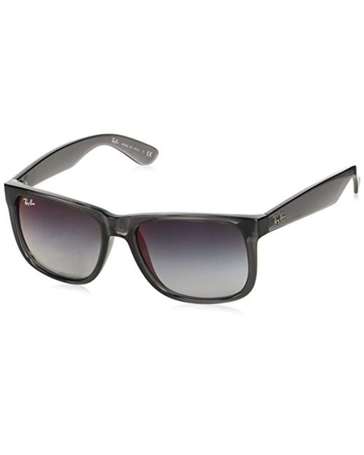 89312e8e50 Ray-Ban - Gray Unisex Justin Wayfarer Non-polarized Sunglasses for Men -  Lyst ...