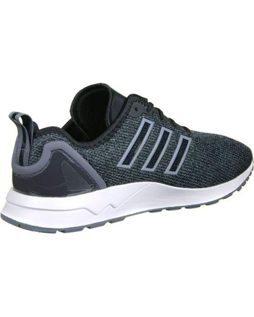 9527f7cc24fe7 ... Adidas - Zx Flux Adv Trainers Black for Men - Lyst ...