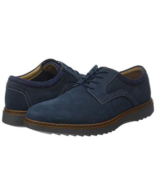 8a8d9a2c ... Clarks - Blue Un Geo Lace, Zapatos de Cordones Derby para Hombre for  Men ...