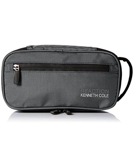 Kenneth Cole Reaction - Gray Compact Nylon Travel Kit for Men - Lyst