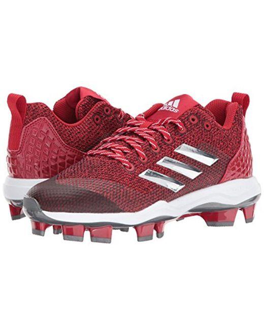 adidas Originals Mens Freak X Carbon Mid Baseball Shoe Power Red/White/Red 9