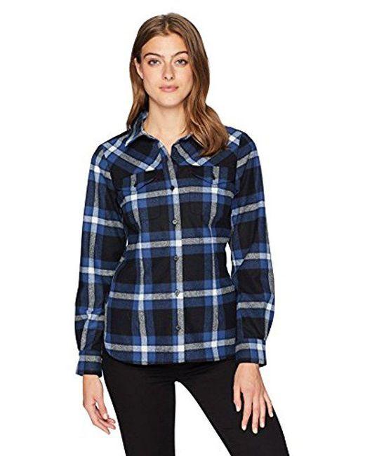Pendleton - Blue Christina Ultrafine Merino Plaid Shirt - Lyst