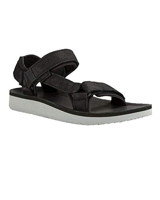 7d8bd843f000 ... Teva - Black Original Universal Premier Leather Sports And Outdoor  Lifestyle Sandal - Lyst ...