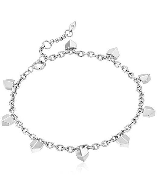 Fossil - Metallic Vintage Glitz Chevron Bracelet - Lyst