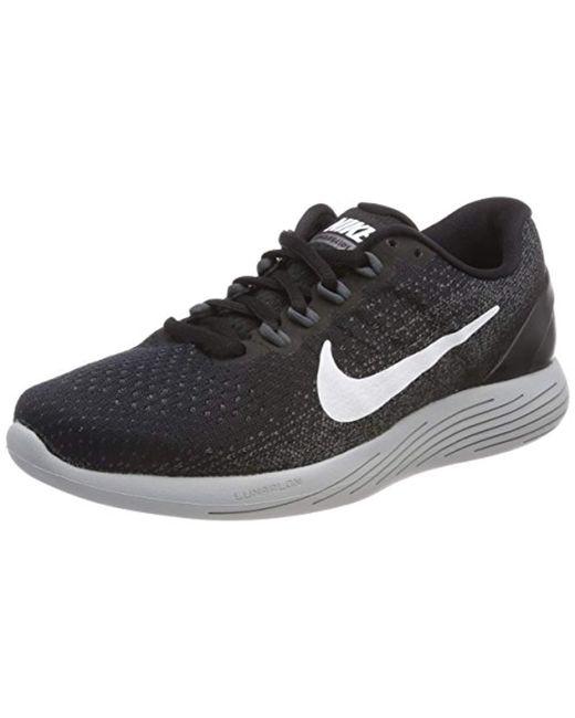 ba43159c606 Nike Lunarglide 9 Running Shoes in Black for Men - Save ...