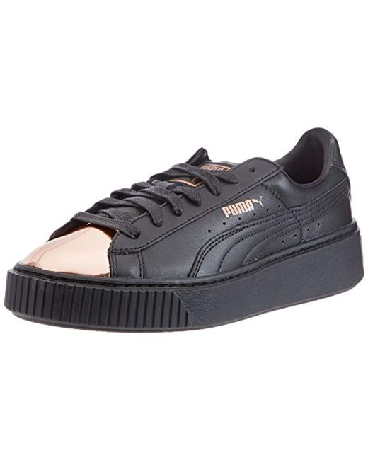 Puma Basket Platform Women s Shoes (trainers) In Black in Black ... 243ac0f1a3aa