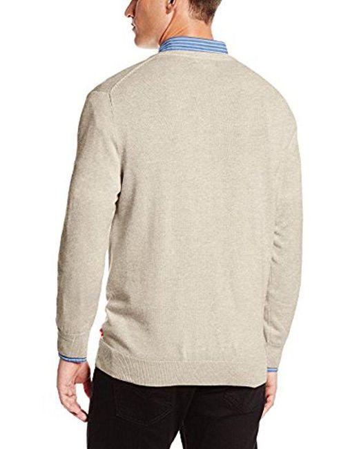 Fine Sweater Gauge V Solid For Lyst Neck Izod Men Pqxapp