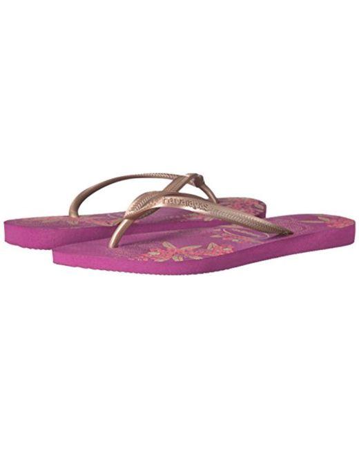 40a4c39b6 ... Havaianas - Purple Slim Organic Flip Flop Sandals