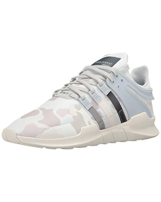 huge selection of 0908a a101d Adidas Originals - White Eqt Support Adv Fashion Sneakers for Men - Lyst ...