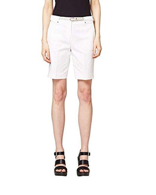 Esprit - White Short - Lyst