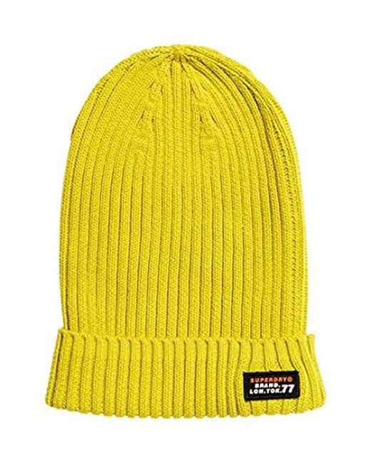 79a3366a8647 Wiseman Beanie, Gorro de Punto para Hombre de color amarillo