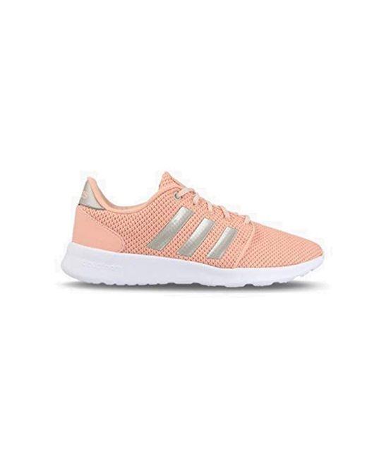 pretty nice 56f26 00b81 Adidas - Pink Qt Racer Running Shoes - Lyst ...