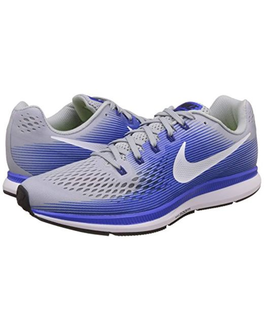 new product 613f3 f38e2 Nike Air Zoom Pegasus 34 Running Shoes in Blue for Men ...