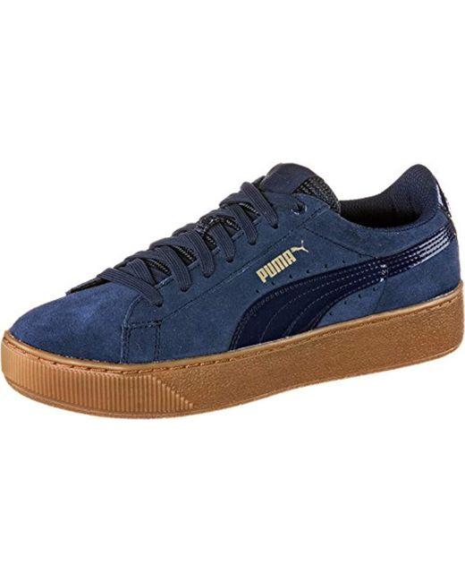 dafc54fea89 Puma Vikky Platform Fashion Sneaker in Blue - Save 49.23076923076923 ...