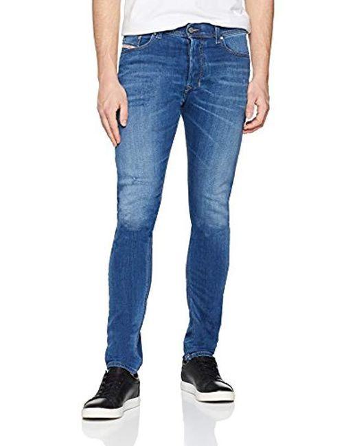 f6b638e2 DIESEL - Blue Tepphar Trousers Slim Jeans for Men - Lyst ...