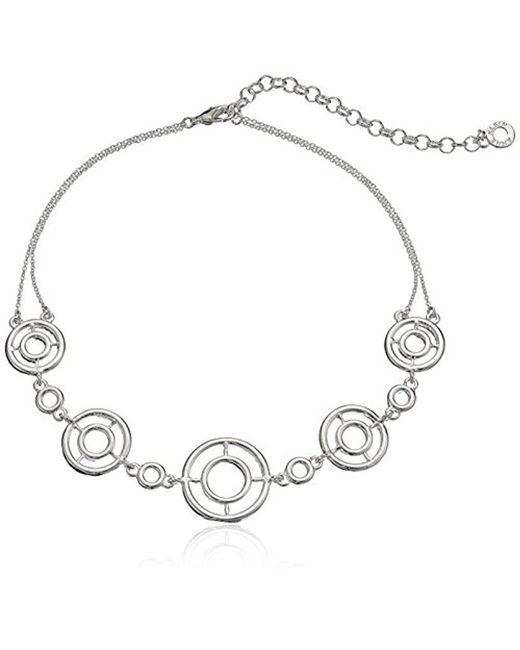 Anne Klein - Metallic Crystal Choker Necklace - Lyst