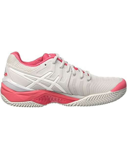 Asics Gel resolution 7 Clay Tennis Shoes in Gray Save 39