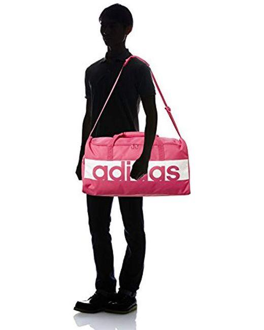 ... Adidas - Pink Linear Performance Bolsa de Deporte fa0a67afeb3be