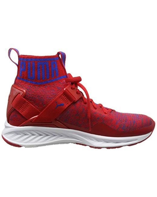 ... PUMA - Red Unisex Adults  Ignite Evoknit Running Shoes for Men ... 0554dbe56